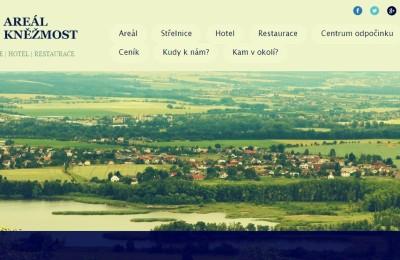 Web a leták pro Areál Kněžmost